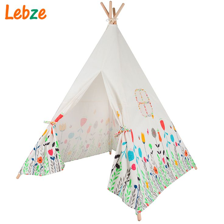 Lovely Cartoon Kids Teepee Four Poles Children Play Tent Cotton Canvas Baby Tipi Tent  Flowers Printed Play House for Baby Room-in Toy Tents from Toys & Hobbies on Aliexpress.com | Alibaba Group