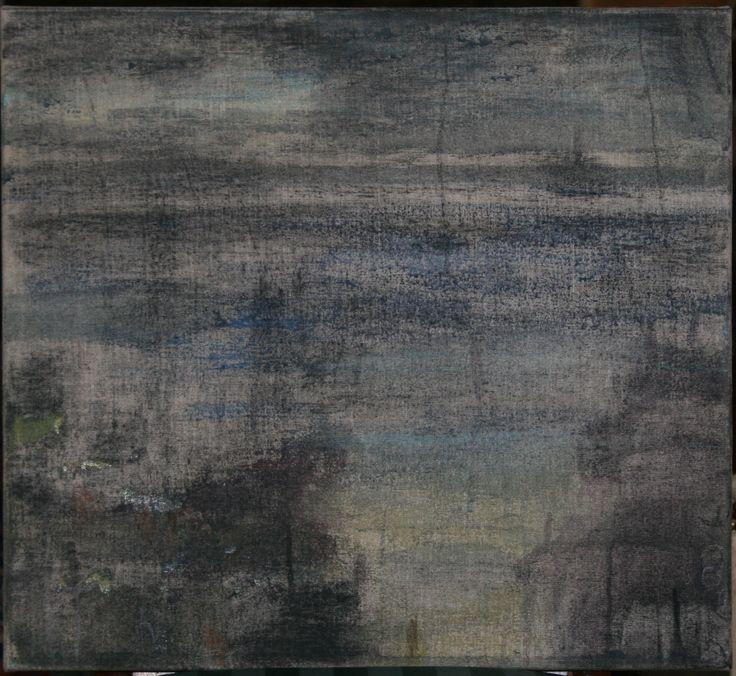 Tjibbe Hooghiemstra: Shore, 2006, oil on linen, 50x55cm.
