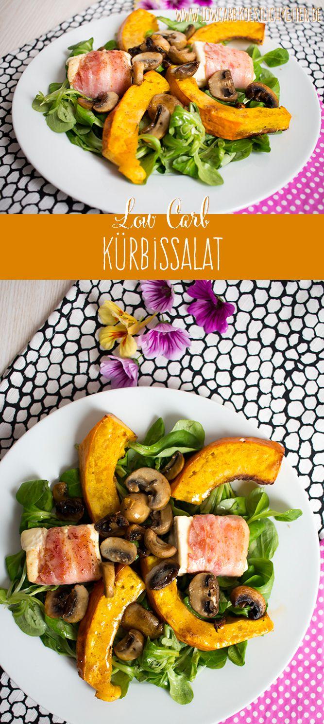 Salat mit ofengeröstetem Kürbis und Fetapäckchen www.lowcarbkoestlichkeiten.de #lowcarb #glutenfrei #abnehmen
