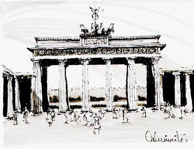 Puerta de Brandenburgo, Berlín - Alemania. Carlos Calvimontes Rojas