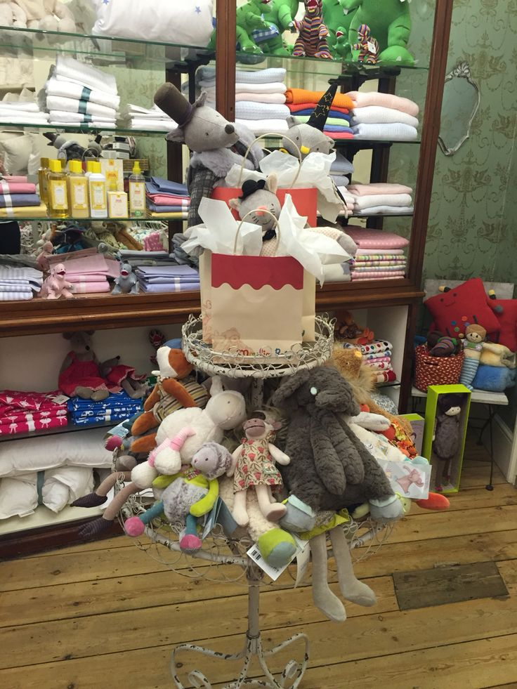 Using soft toys as gift ideas. Moulin roty at Cologne and Cotton Brighton November 2015