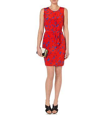 MARCS | Dresses - SILK BRUSHSTROKE PRINT SHIFT DRESS  www.marcs.com.au