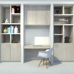 3D visual kastenwand op maat woonkamer project overhoeks Amsterdam door Studio Nest 7