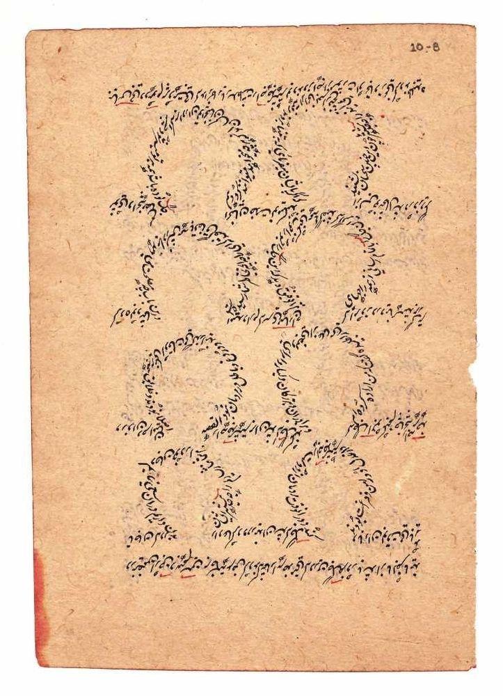 RARE ANTIQUE ORIGINAL HAND WRITTEN ISLAMIC MANUSCRIPT PAGE UNIQUE CALLIGRAPHY