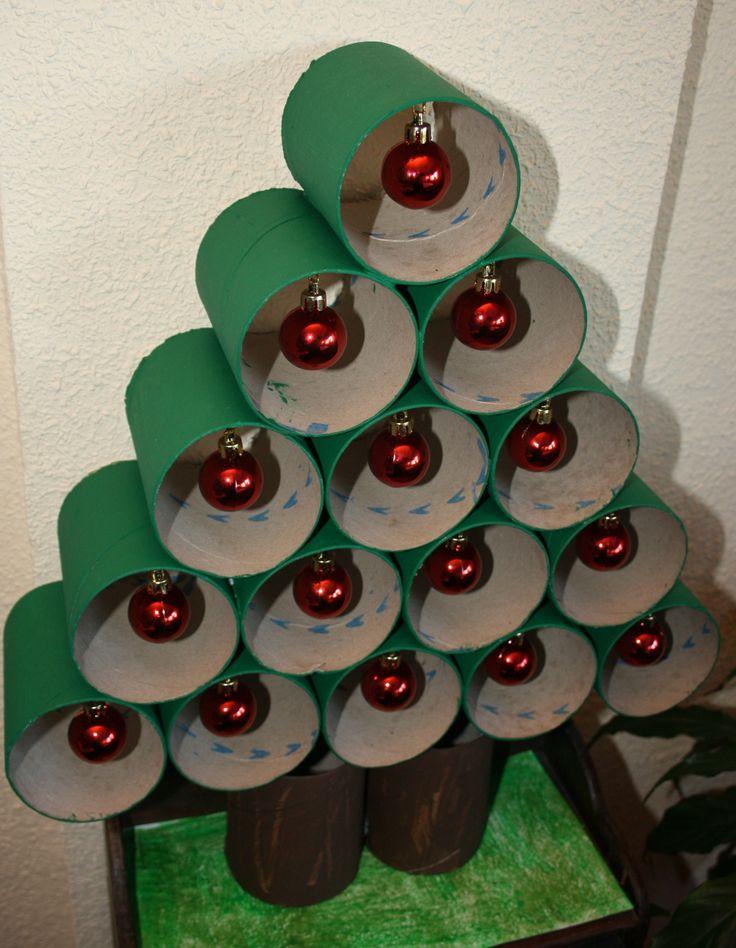 De Navidad Con Rollos De Papel Higienico Cool Arbol De Navidad Con