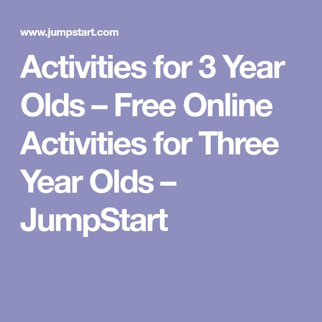 Activities for 3 Year Olds – Free Online Activities for Three Year Olds – JumpStart