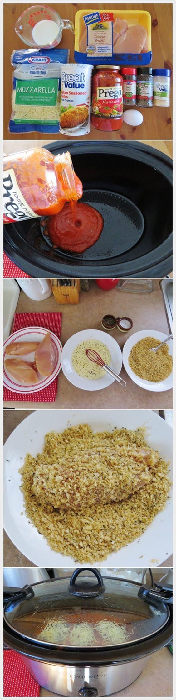 Olla de barro pollo parmesano