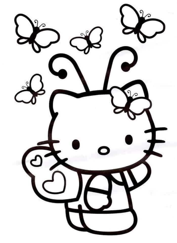 Hello Kitty Butterfly Coloring Pages Hello Kitty Coloring Hello Kitty Colouring Pages Kitty Coloring