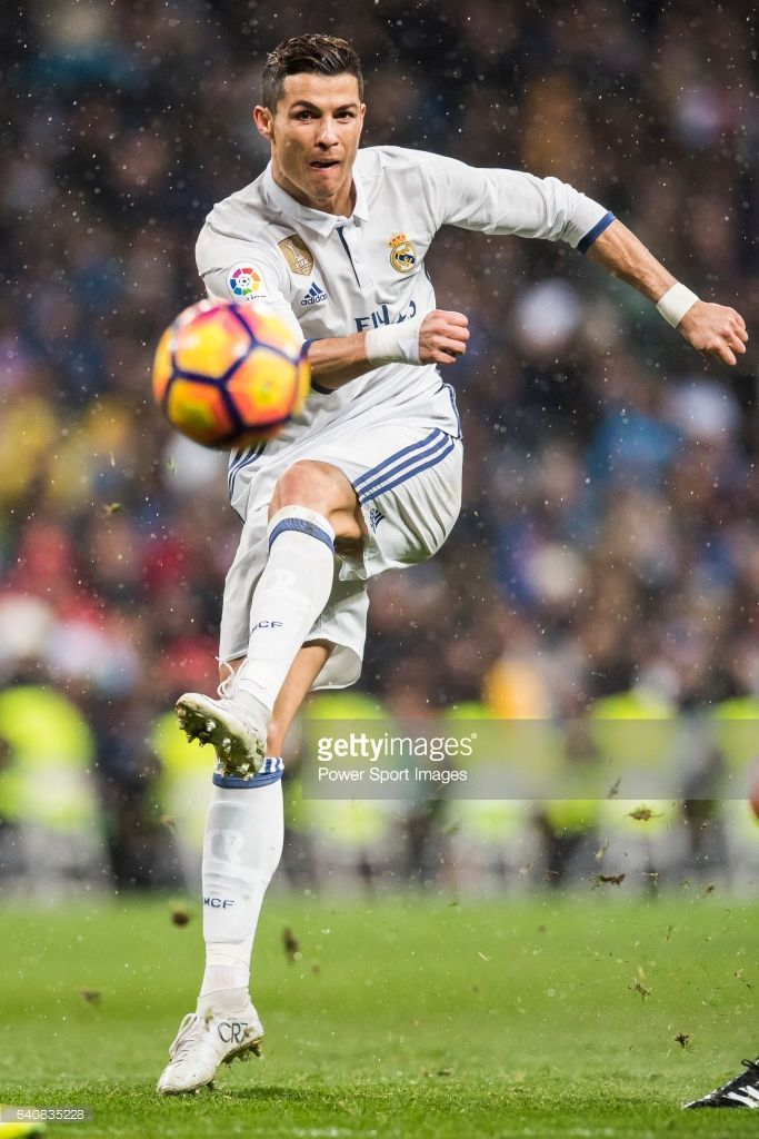 Cristiano Ronaldo of Real Madrid in action during their La Liga match between Real Madrid and Real Sociedad at the Santiago Bernabeu Stadium on 29 January 2017 in Madrid, Spain.