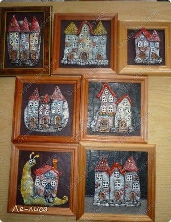 Мастер-класс Коллаж Лепка Мои любимые домики Тесто соленое фото 2