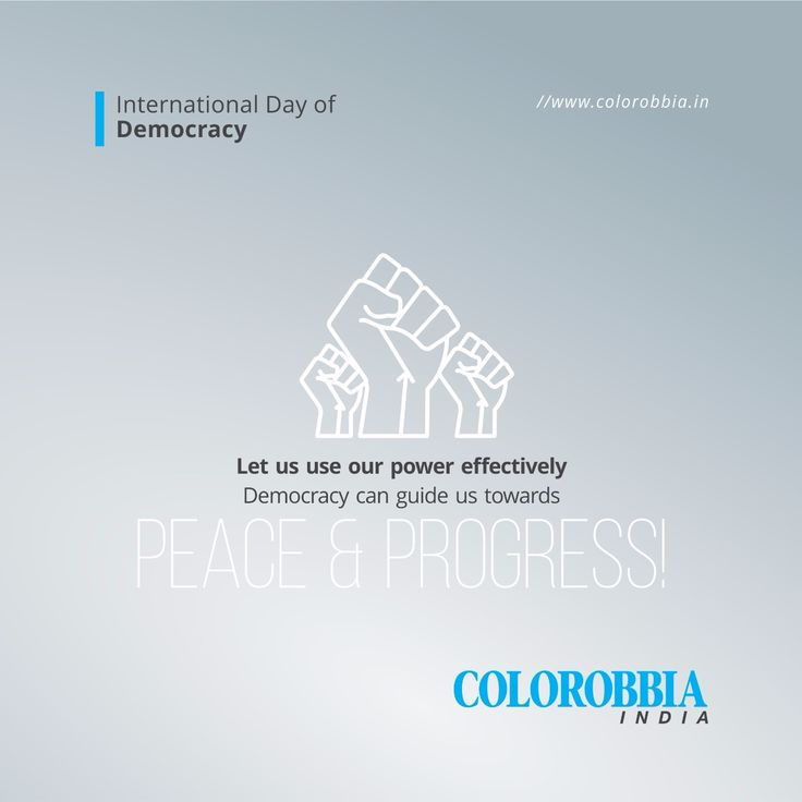 Let us use our power effectively. Democracy can guide us towards PEACE & PROGRESS International Day of Democracy! #colorobbia #India #Ceramic #international #democracy #day