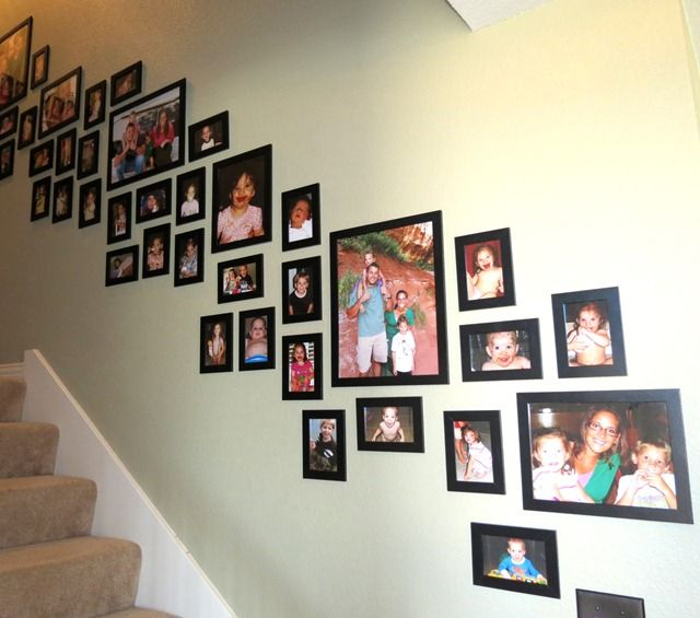 stairway photo frames - Google Search