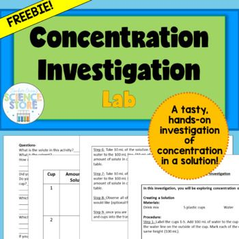 1030 best general science images on pinterest physical science concentration investigation lab is the perfect lab to help students explore concentration and dilution of solution in a tasty and hands on way fandeluxe Gallery