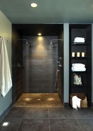 Awesome Relaxing Wall Colors Ideas for Your Interior House Design : Awesome Eclectic Bathroom With Gray Relaxing Wall Colors Modern Sink Wit...