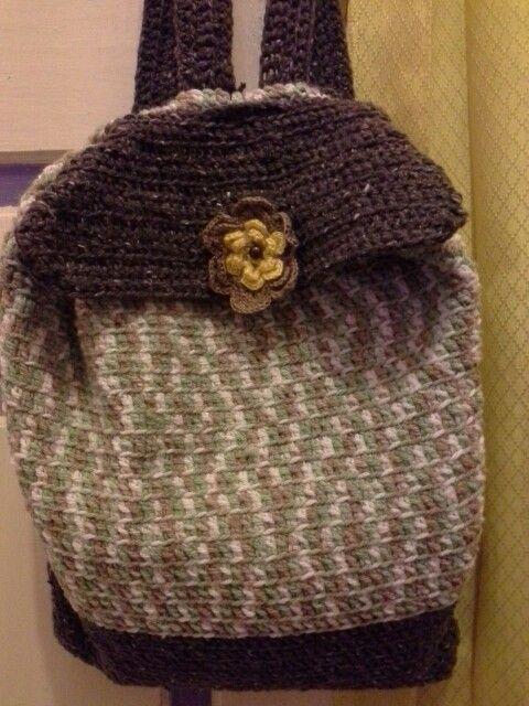 crochet bagpack