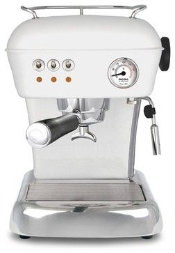 Ascaso Dream UP 2 Versatile Espresso Machine, Anthracite Grey, Cloud White contemporary coffee makers and tea kettles