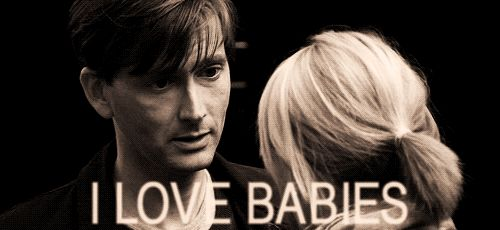 """OMG. SO cute. Can he get any cuter? Scottish. Doctor Who, amazing energy and """"I love babies"""" with that smile."""
