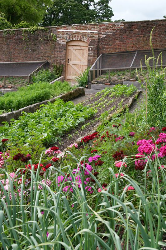 Restored Victorian Kitchen Gardens at Combe House Hotel in