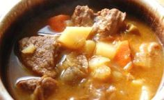 Σούπα με μοσχάρι, πατάτα και καρότο