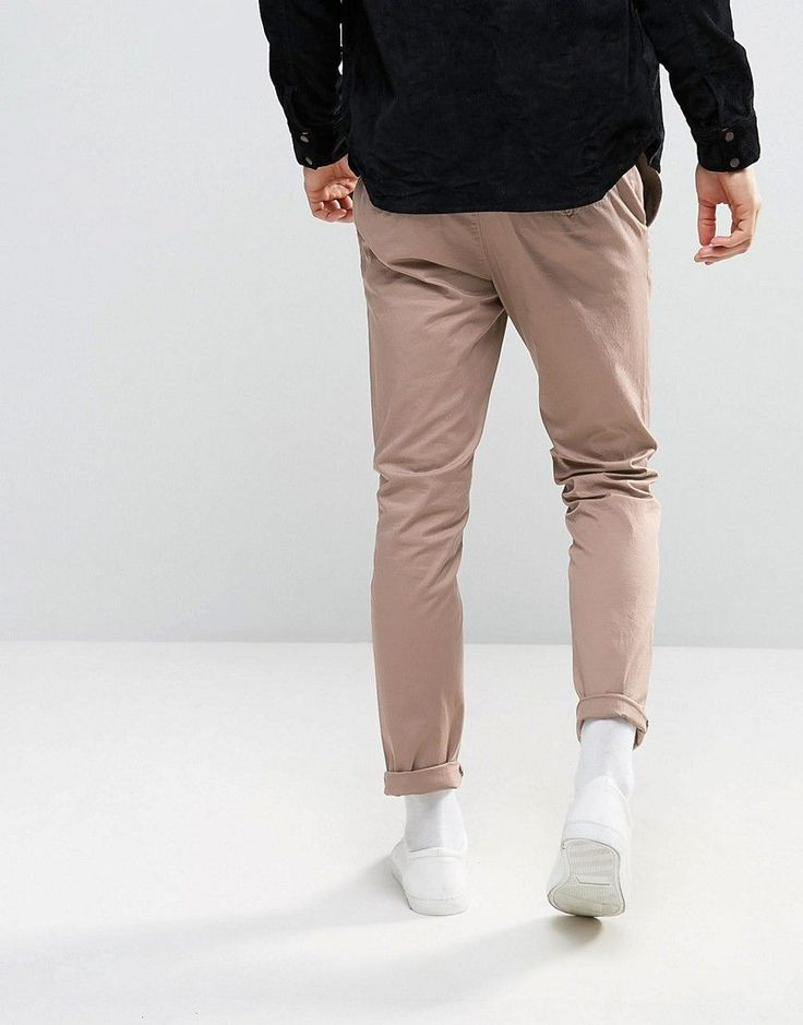 ASOS Slim Chinos In Stone - Stone