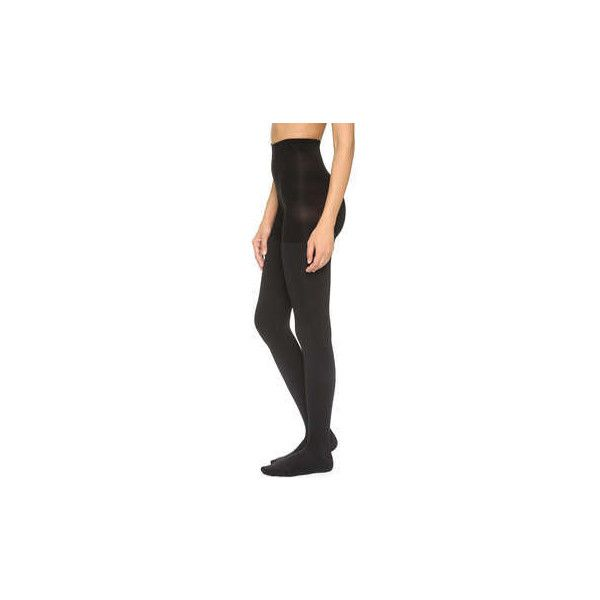SPANX Luxe Leg Blackout Tights ($38) ❤ liked on Polyvore featuring intimates, hosiery, tights, spanx stockings, opaque pantyhose, spanx tights, nylon stockings and spanx hosiery