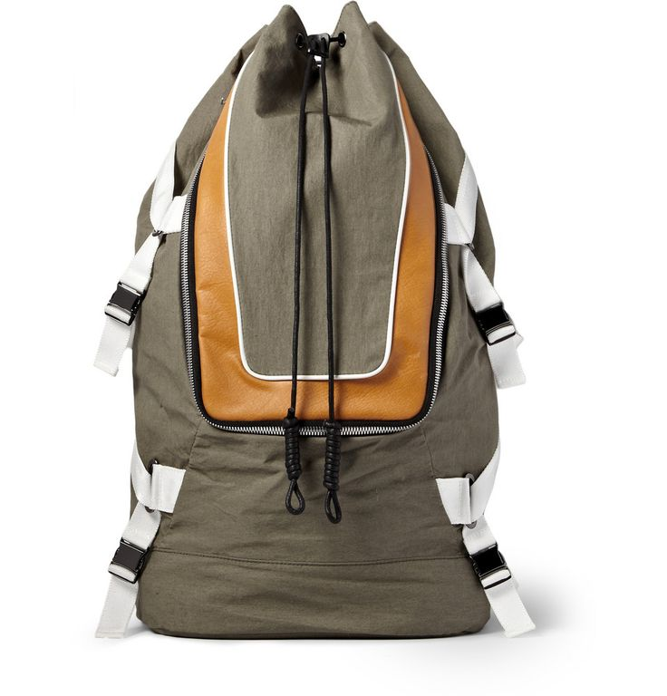 Socially Conveyed via WeLikedThis.co.uk - The UK's Finest Products -   TIM COPPENS  LEATHER-TRIMMED NYLON BACKPACK http://welikedthis.co.uk/?p=3394