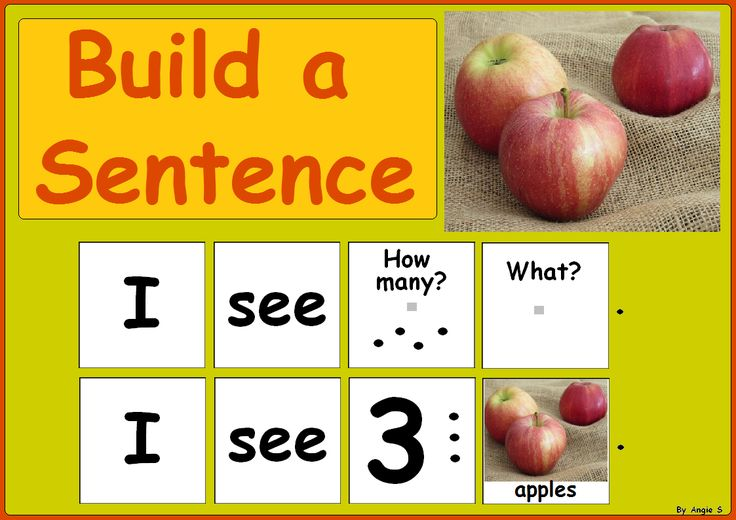 Fall Build a Sentence for Speech Therapy and Special Ed #autism For more resources folllow https://www.pinterest.com/angelajuvic/autism-special-education-resources-angie-s-tpt-sto/