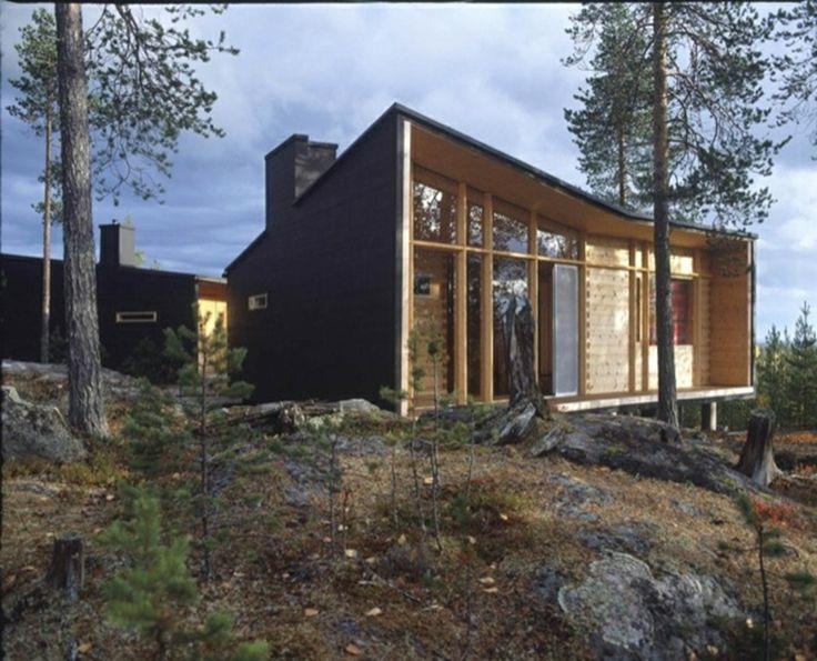 http://ventacasasdemadera.com/2013/12/19/casa-de-madera-moderna-en-laponia/ #madrid #casademadera #madera #casaspersonalizadas