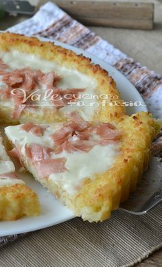 Crostata di riso con mortadella e stracchino - Tart rice with sausage and stracchino