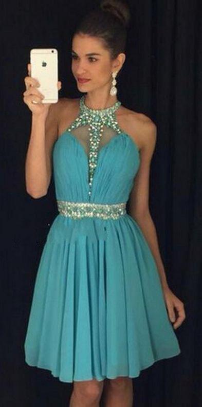 #homecoming dress #homecoming dresses #Short Prom Dresses #short homecoming dresses #Sexy homecoming dresses #2016 Homecoming Dress #junior homecoming dresses #2016 Short homecoming dress #Halter Turquoise homecoming dress