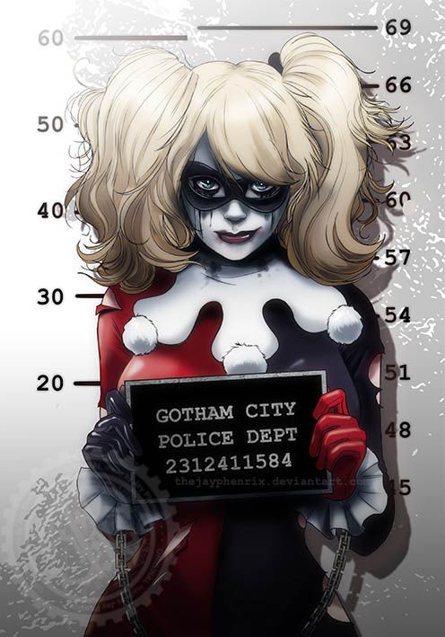 Harley Quinn Mugshot Auction your comics on http://www.comicbazaar.co.uk