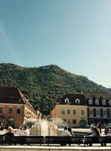 Brasov, Romania. A wonderful medieval city with a hill view.