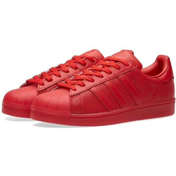 Adidas Superstar Adicolor ($60) ❤ liked on Polyvore featuring men's fashion, men's shoes, mens rubber shoes, adidas mens shoes, g star mens shoes and mens perforated shoes