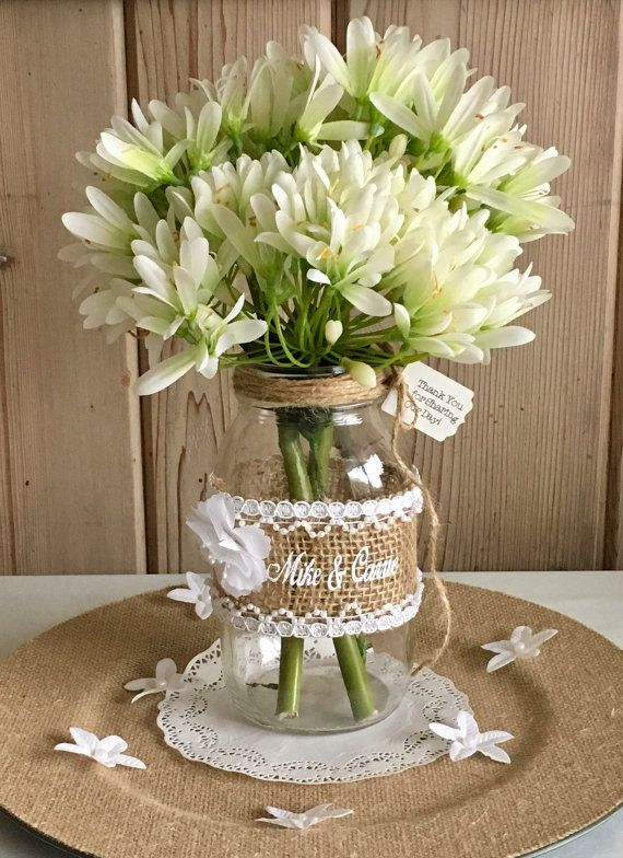 Barn Wedding Centerpiece This PERSONALIZED by snowbeltcrafters