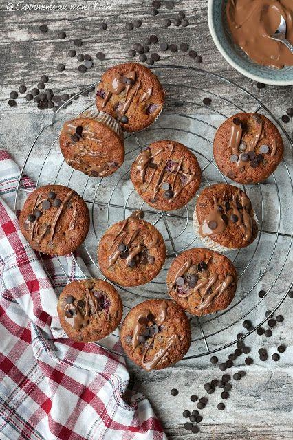 Schoko-Kirsch-Muffins mit Mandeln in 2019 | Experimente aus meiner ...
