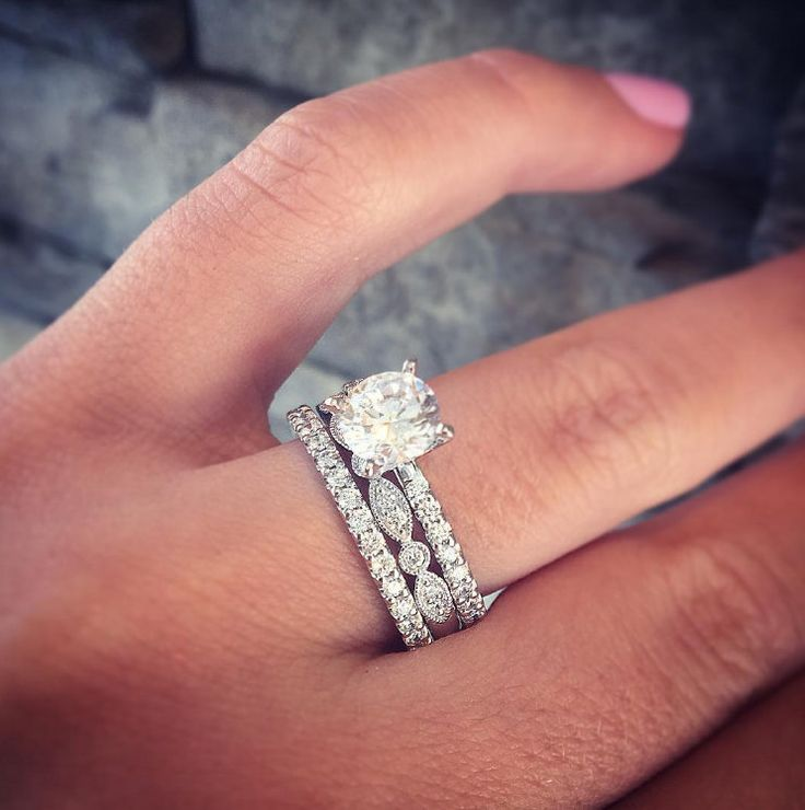 Best 25 Stacked Wedding Bands Ideas On Pinterest