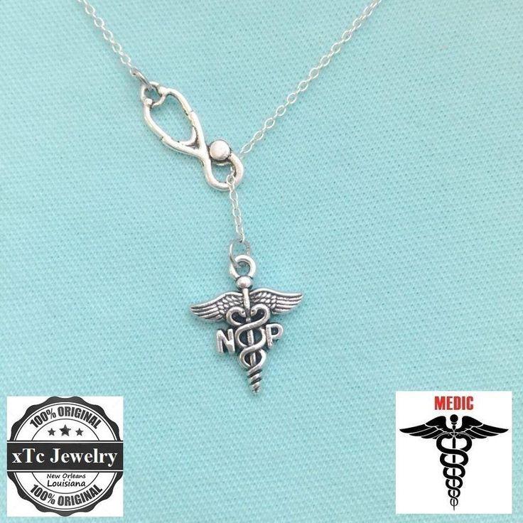 Stethoscope & NP (Nurse Practioner) Symbol Latiat Necklace.