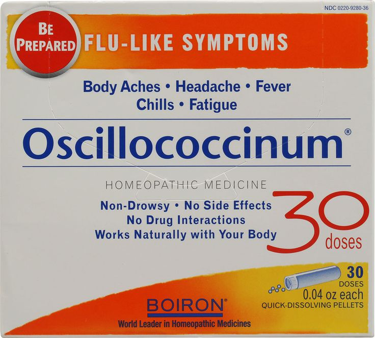 Boiron Oscillococcinum - at the first sign of flu-y symptoms