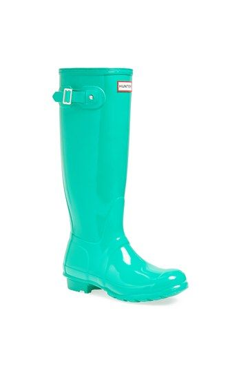 Hunter 'Original Tall' Gloss Rain Boot (Women) available at #Nordstrom -- I also very much like the red ones!!