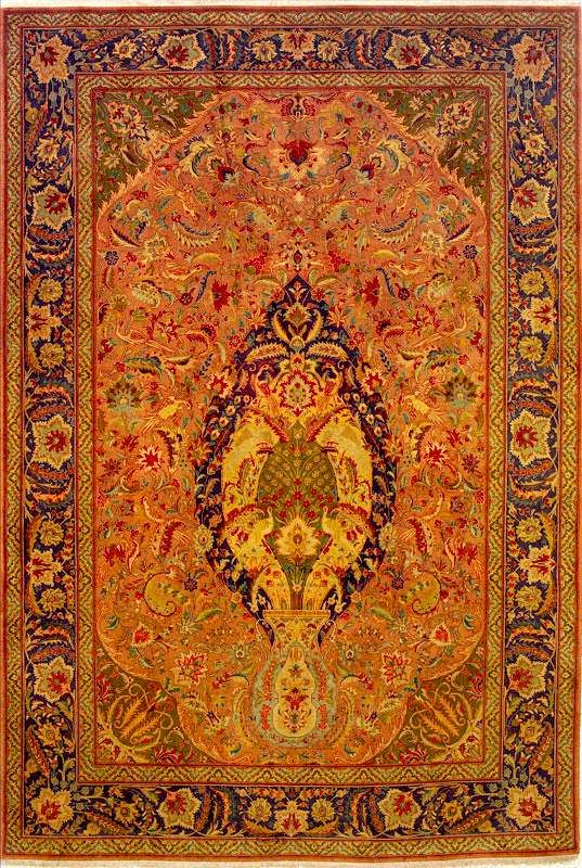 persian rugs tabriz rugs vase medallion tabriz carpet tapis persan pinterest persan. Black Bedroom Furniture Sets. Home Design Ideas