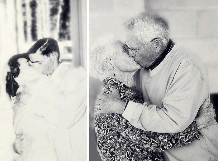 Пары Воссоздали Свои Старые Фотографии, Доказывая, Что Настоящая Любовь Существует