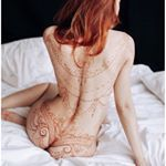 """2,296 Likes, 43 Comments - The Art of Mehndi&Erotic Henna (@ginkas_arts) on Instagram: """"Куколка фарфоровая #GINKASEROTIC henna linderie by @ginkas_arts Garters and chains for new…"""""""