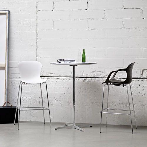 High bar table / round / contemporary / aluminum SERIES PEDESTAL BASE Fritz Hansen