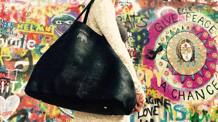 Black leather tote Brierley Bag