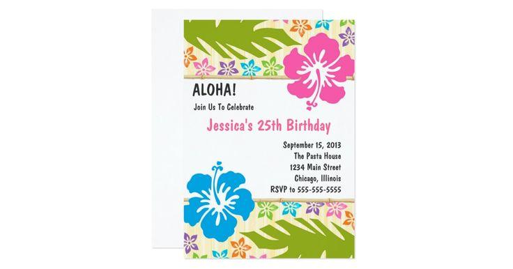Invitación hawaiana del fiesta de Luau