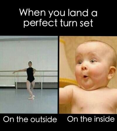 Perfect turns! How manny pirouettes can you do? How about second position turns or fouettes? Comment if you are a dancer!!!