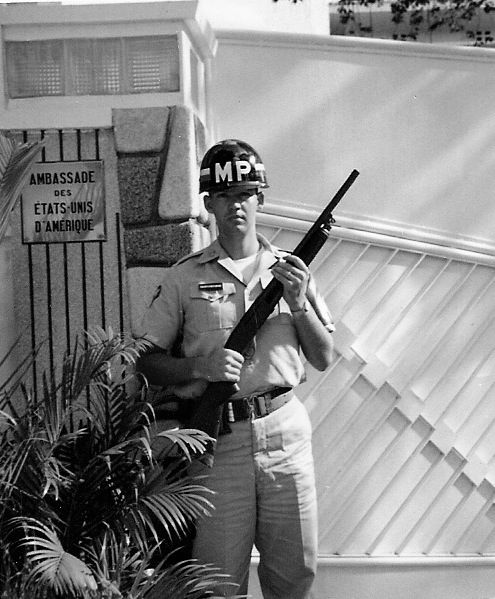 716th MP at US Ambassador, Henry Cabot Lodge's Quarters in Saigon, Vietnam, 1965
