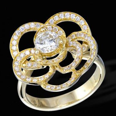 Кольцо с бриллиантами ED R 24863 YG