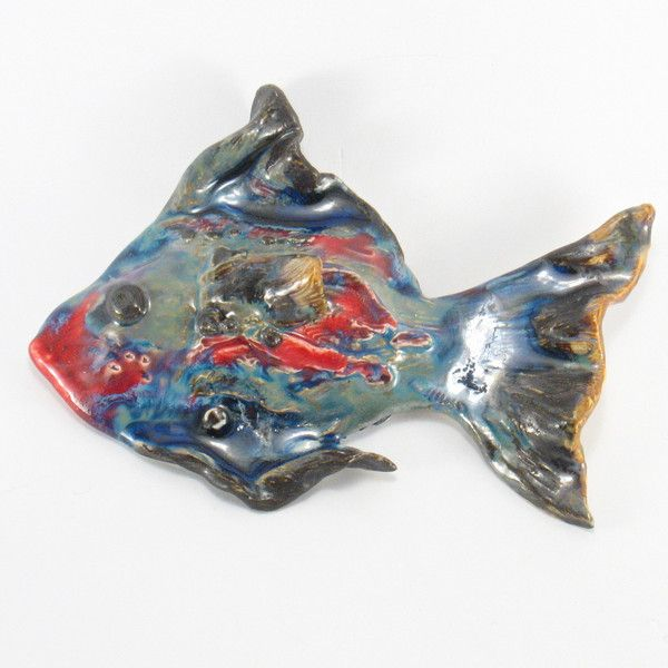 Christmas Home Decor – Ceramic fish – a unique product by Zielonepalce on DaWanda
