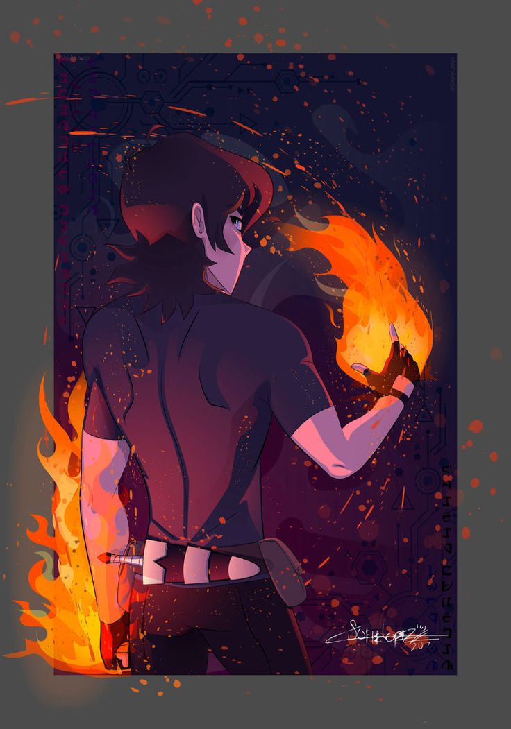 Keith the Guardian Spirit of Fire from Voltron Legendary Defender